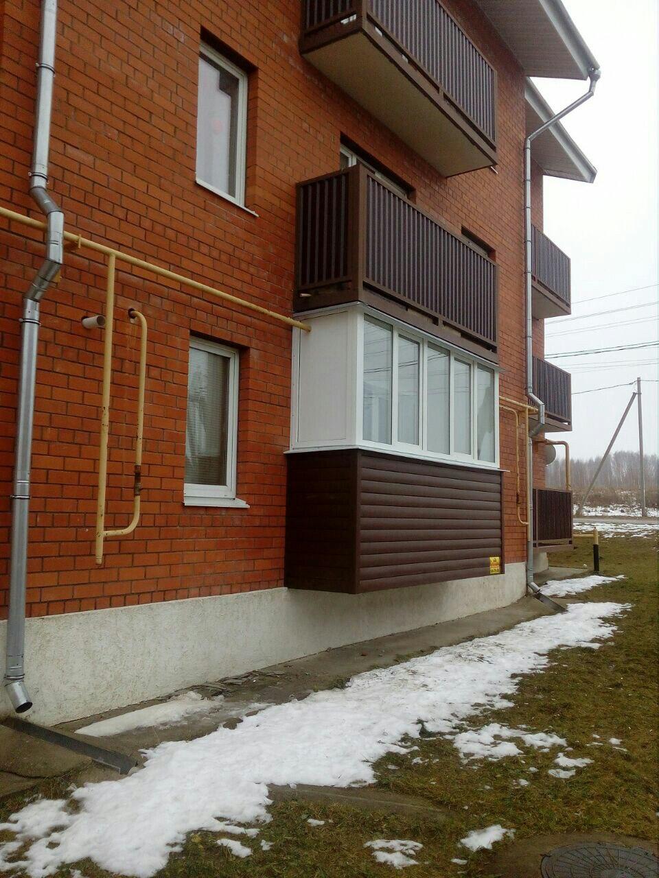 Балкон под ключ в новых домах на Скуратово. Фото 2