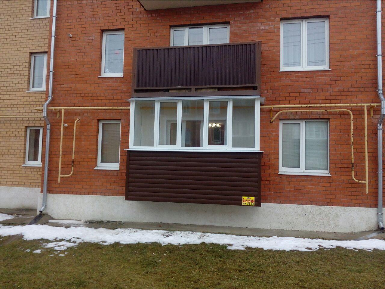 Балкон под ключ в новых домах на Скуратово. Фото 3