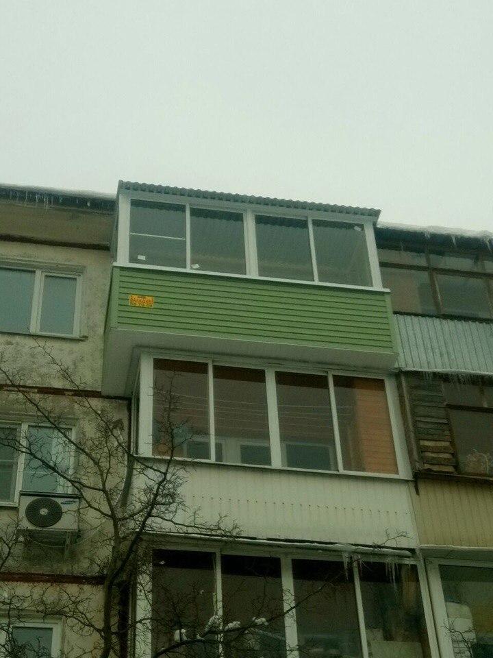 Вынос балкона по плите. Фото 1